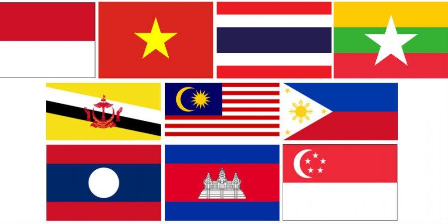 asean member country flags